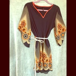 1970's vintage hippie dress
